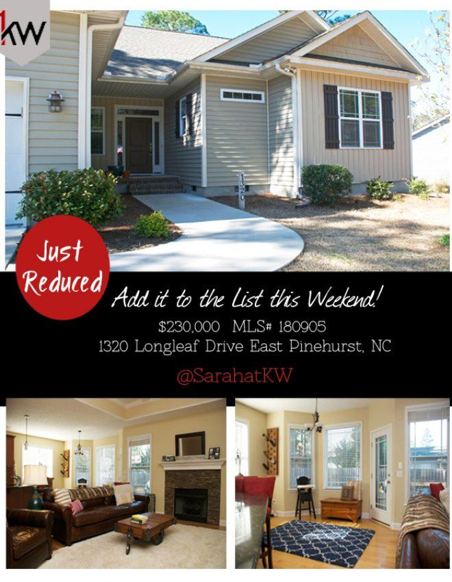 Just Reduced! 1320 Longleaf Drive East Pinehurst NC